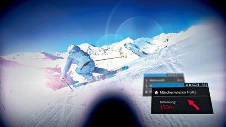 Wo ist die nächste Hütte? Daten-Brillen navigieren einen durchs Skigebiet. Foto: Ski Amadé