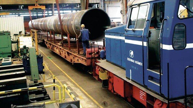 Verladung bei Eisenbau Krämer in Recklinghausen: Die Firma setzt nach wie vor auf die Schiene.