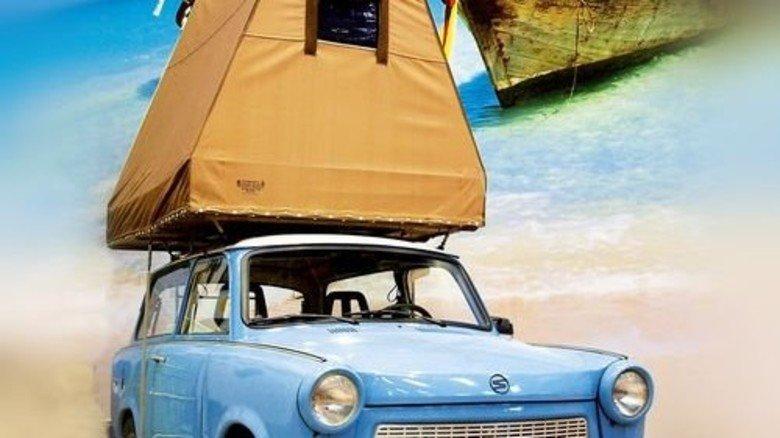 Ostalgie: In Bonn kann man auch im Trabi-Zelt schlafen. Foto: Basecamp