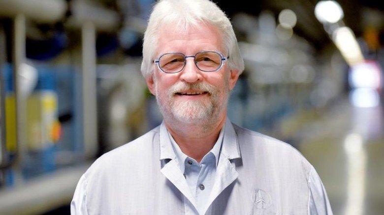 """""""Ich musste mich ganz schön zurücknehmen."""" Klaus Steinbrücker, ehemaliger Leiter in der Oberflächentechnik. Foto: Bahlo"""