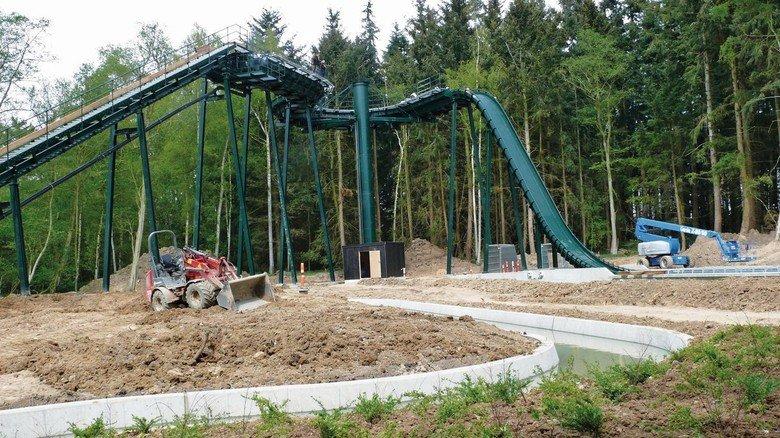 Steil: Mit dem Bau der Wildwasserbahn in Dänemark gelang HAB der Einstieg in den touristischen Anlagenbau.