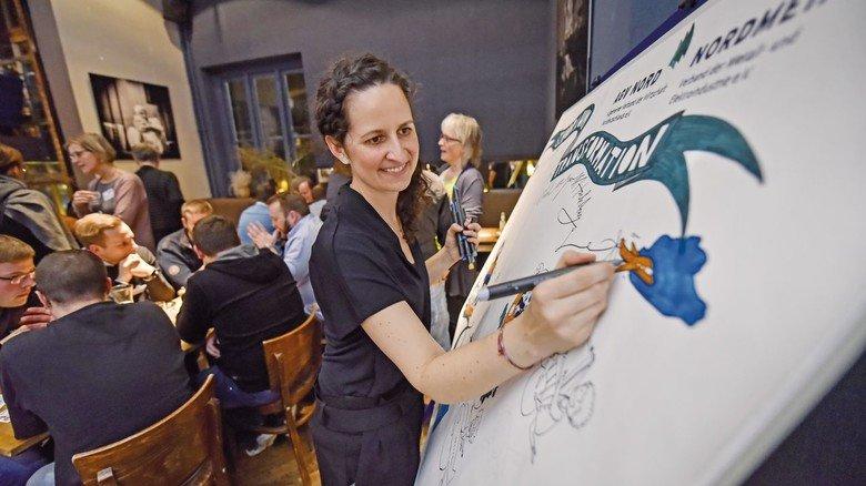 Anschaulich: Illustrationsdesignerin Dominique Kleiner visualisierte die zentralen Themen der Veranstaltung.