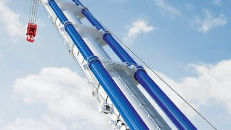 Stabil: Einen Ausleger mit drei Teleskopröhren hat Tadano Faun  für Fahrzeugkräne entwickelt. Foto: Werk