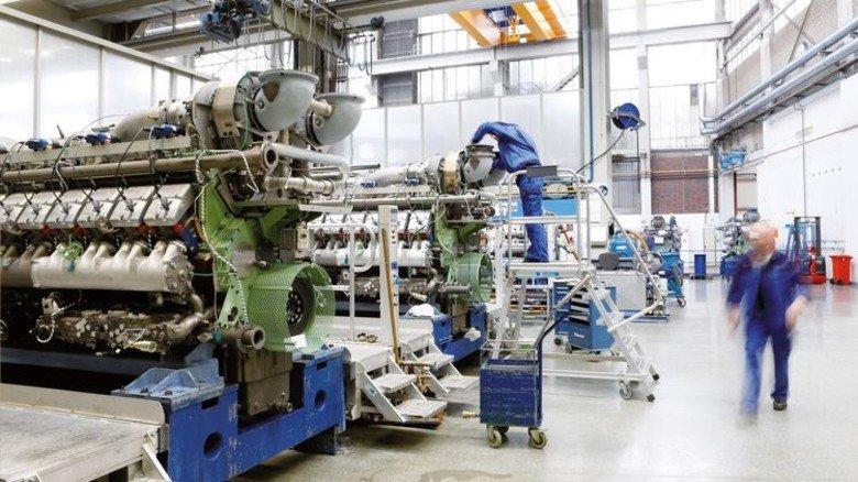 Gleicher Ort: Heute produziert das Unternehmen Caterpillar genau dort, wo früher die ersten Autos gebaut wurden, riesige Gasaggregate. Foto: Werk