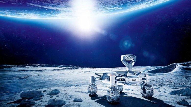 Geländegängig: Anfang 2018 soll der erste Audi auf dem Mond fahren. Illustration: Audi
