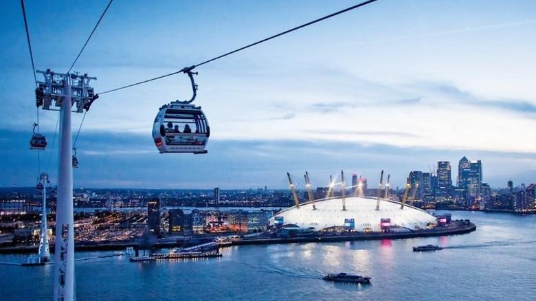 London: Die Seilbahn über der Themse wurde zu Olympia 2012 eröffnet. Foto: TFL