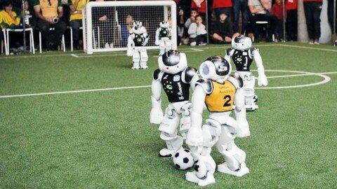 """2019: Team """"B-Human"""" von der Universität Bremen gewinnt die RoboCup-WM in Sydney, zum siebten Mal."""