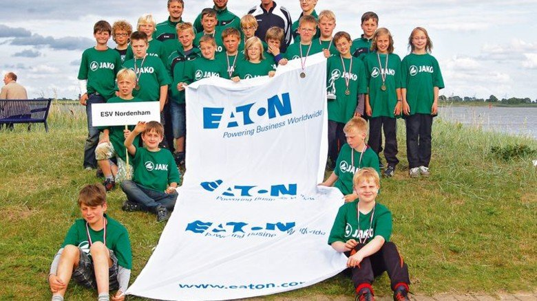 … und jungen Kickern des ESV Nordenham. Foto: Privat