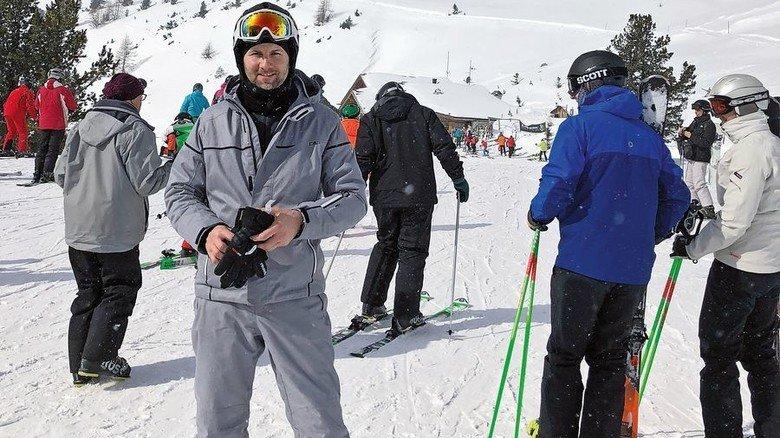 """Im Ski-Urlaub: Schultz braucht Sport – """"sonst wird man schlapp und unzufrieden"""". Foto: Wirtz"""