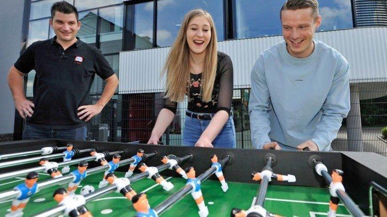 Munteres Team: Die Gesundheitslotsen Andreas Trick, Natalie Rentschler und Valentin Lacher (von links). Foto: Sigwart
