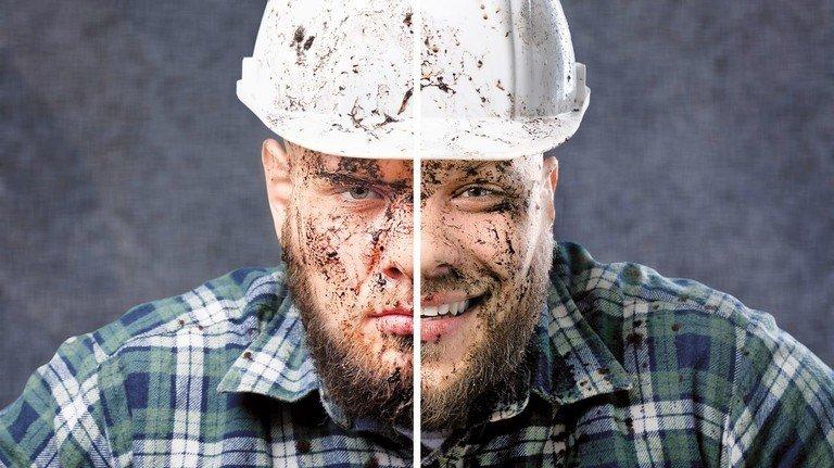 Zwei Gesichter: Im Job kann es mit den Gefühlen auch schon mal drunter und drüber gehen.