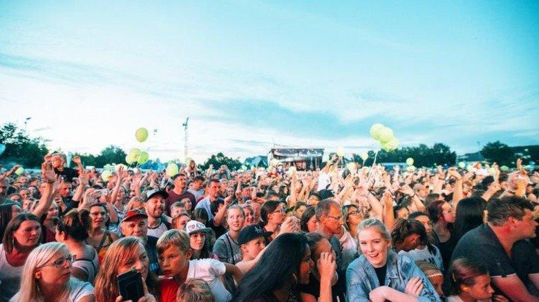 Große Party: Konzert zum Auftakt der Tour in Gunzenhausen. Foto: BR