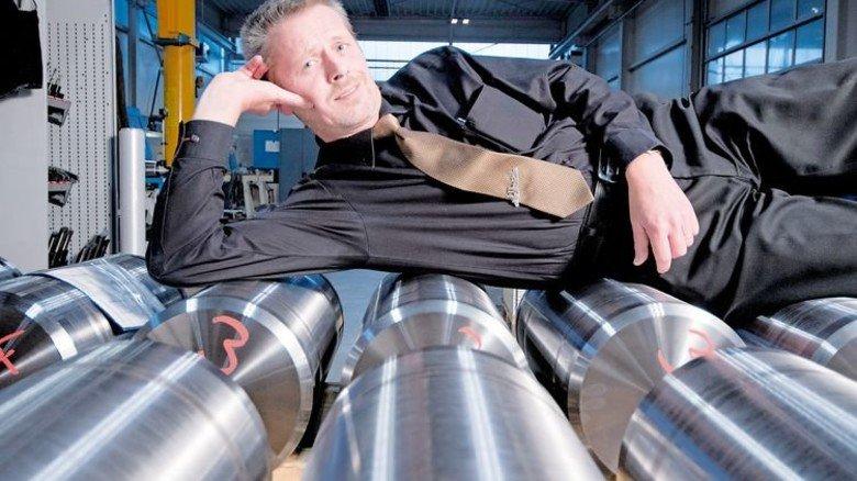 Sieht's entspannt: Geschäftsführer Frank Mittag weiß, was seine Belegschaft leistet. Foto: Moll