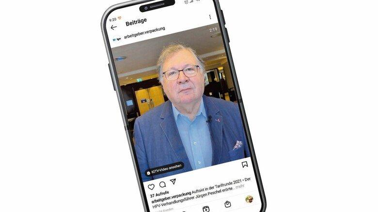 Interview auf Instagram: HPV-Verhandlungsführer Jürgen Peschel.