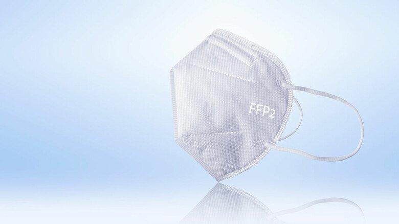 FFP2-Maske: Darin steckt ein Vliesstoff aus Fasern, die 70-mal dünner als ein Haar sind.