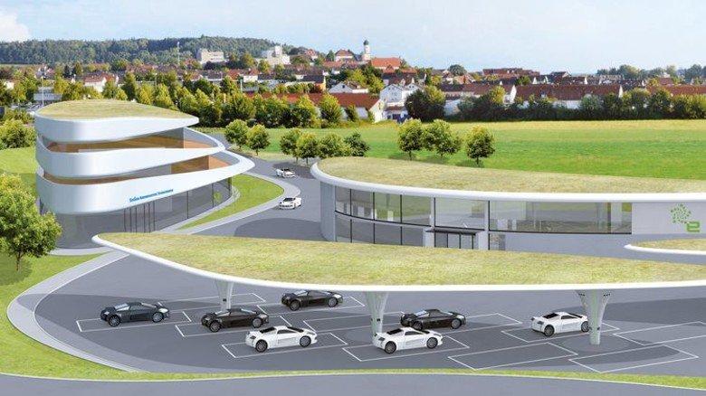 Futuristisch: 144 Ladepunkte an der Autobahn A8. Illustration: Sortimo