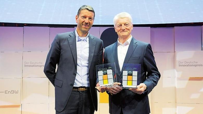 Ausgezeichnet: Thyssenkrupp-Chef Heinrich Hiesinger (rechts) mit Adidas-Chef Kasper Rorsted. Foto: Stefan Obermeier