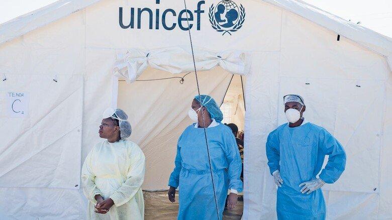 Nothilfe im Zelt: Nach verheerenden Stürmen kämpft man in Mosambik noch immer gegen die grassierende Cholera.