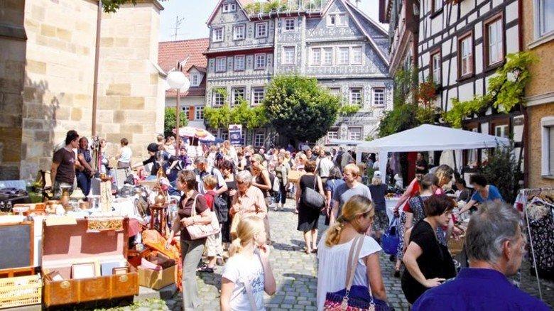 In der Altstadt: Im Juli gibt's beim Bürgerfest Esslingen einen Markt. Foto: Maehr