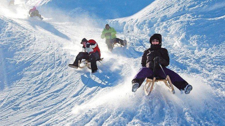 Runterrattern: Rodelpisten für Nicht-Skifahrer. Foto: Adobe Stock