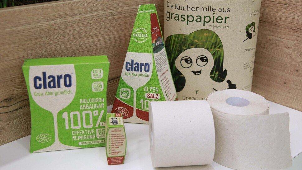Graspapier: Schont die Umwelt und ist auch für Lebensmittel geeignet.