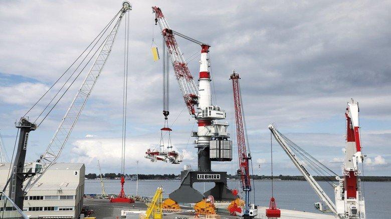 Leistungsstark: Der TCC 78000 kann Lasten mit einem Maximalgewicht von 1.600 Tonnen heben.