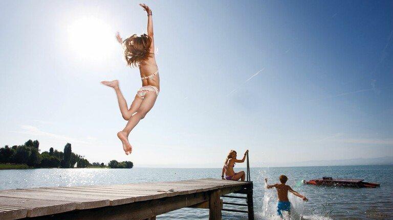 Seebad im Immenstaad: eines von vielen am Bodensee.