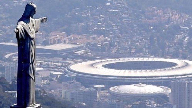 Atemberaubend: Blick vom Berg Corcovado auf die Stadien von Rio. Foto: Getty