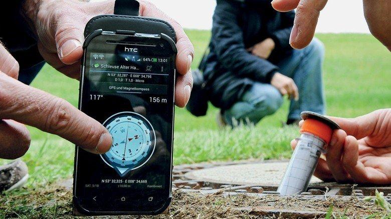 Fundsache: Mit GPS-Geräten wie diesem wird bei der digitalen Schnitzeljagd nach den Geocaches gesucht.