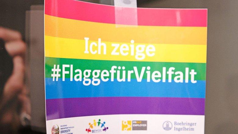 Diversity-Sticker bei Boehringer Ingelheim.