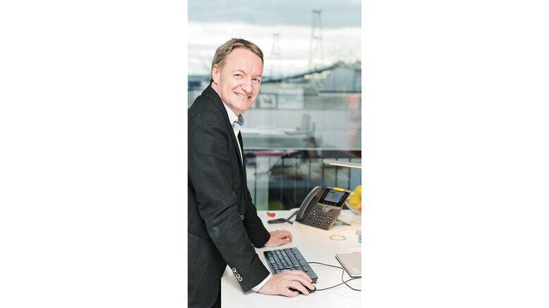 Standortleiter: Ralf Lorber, Geschäftsführer von Egger Holzwerkstoffe in Wismar.