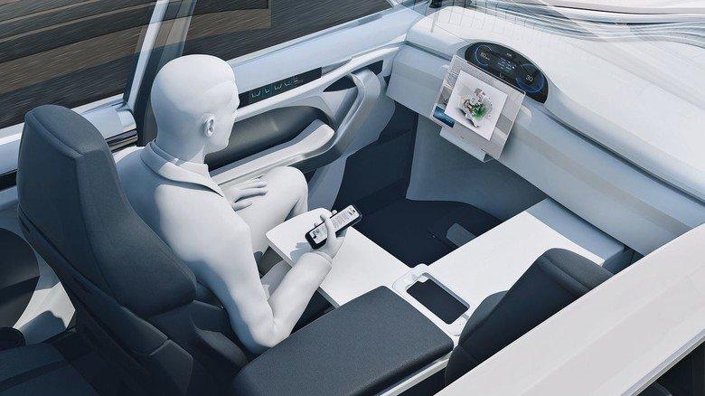 Zukunftsvision: Das Auto wird zum Büro oder zur Lounge.