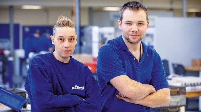 Keine Berührungsängste: Michi Spanke (links) und Matthias Kraus haben sich bei Röhm gleich wohlgefühlt.