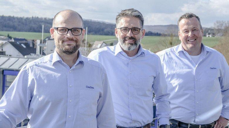 Führungskräfte: Supply-Chain-Manager Sascha Weckmüller, Geschäftsführer Peter Zöller und IT-Leiter Alexander Schwarz (von links).