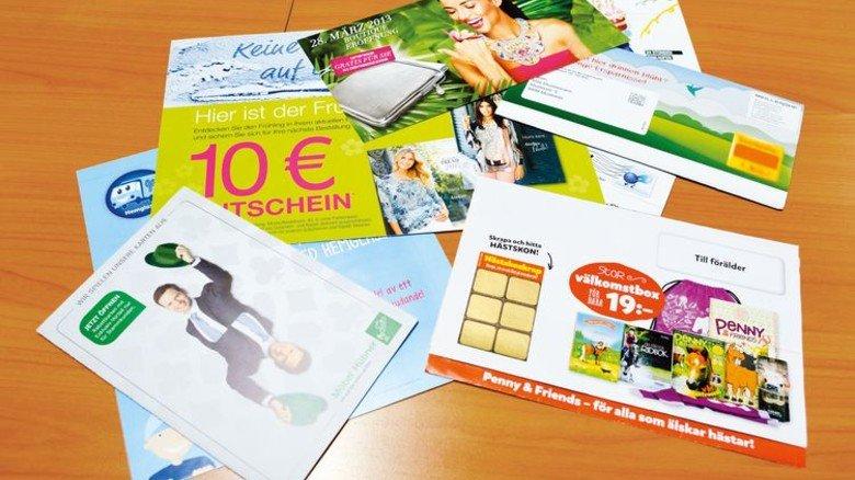 Reklame: Solche Flyer von MeillerGHP kommen per Post ins Haus. Foto: Scheffler
