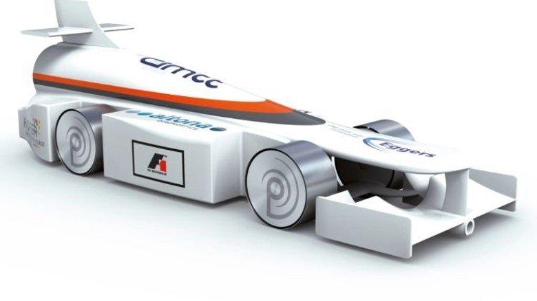 """Kleine Flitzer: Im Regelwerk von """"Formel 1 in der Schule"""" gibt es exakte Vorgaben für den Bau der Rennwagen. Angetrieben werden sie durch eine Gaskartusche im Heck. Foto: Privat"""