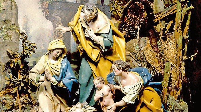 Traditionell: Diese Weihnachtsszene mit dem Jesuskind ist nur eine der Krippen aus der umfangreichen Sammlung des Bayerischen Nationalmuseums in München.