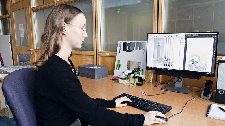 Design: Zum Job gehört es, das sogenannte Moodboard auch digital zu entwickeln.
