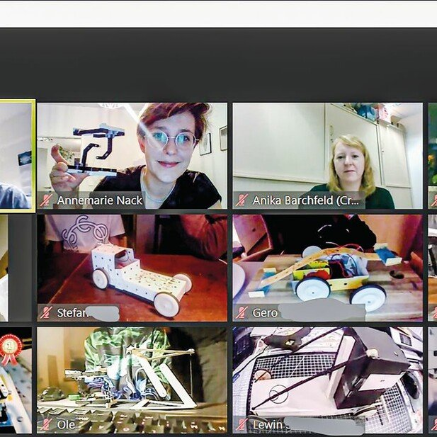 Diesmal digital: Der Austausch der Jugendlichen lief über das Videokonferenz-Tool Zoom.