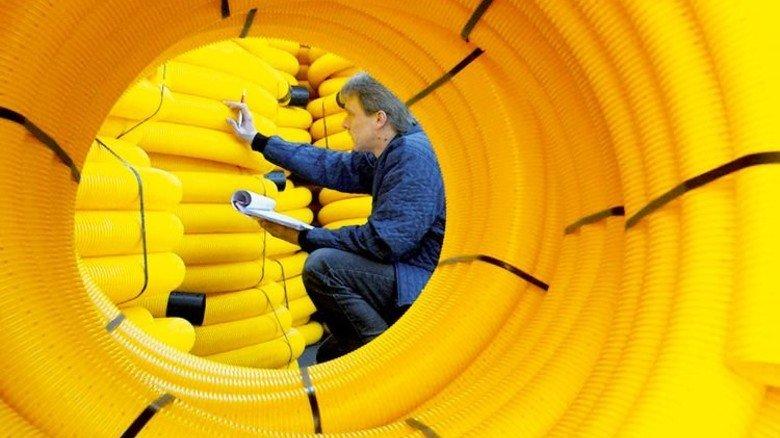 Schwankt saisonal: Die Produktion der Firma Fränkische Rohrwerke. Foto: Werk