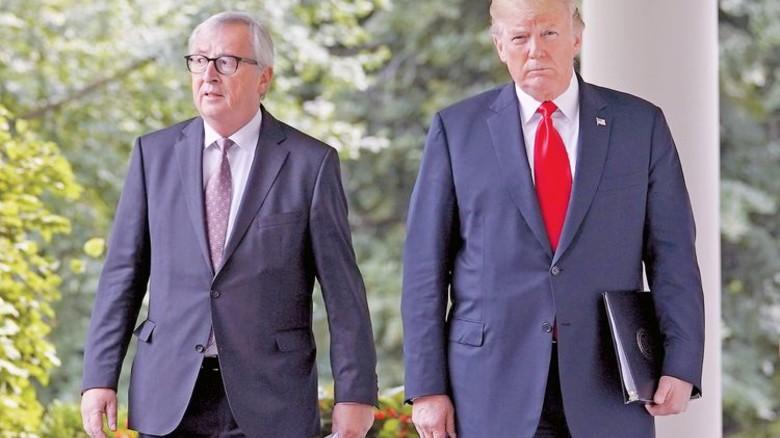 Treffen in Washington: Kommissionspräsident Jean-Claude Juncker und US-Präsident Donald Trump. Foto: dpa