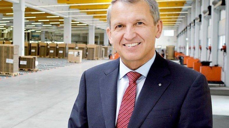 """""""Wir haben das leistungsstärkste Hochregallager Deutschlands."""" Dr. Bernhard Ruffing, Geschäftsführer der Kolb-Gruppe. Foto: Scheffler"""