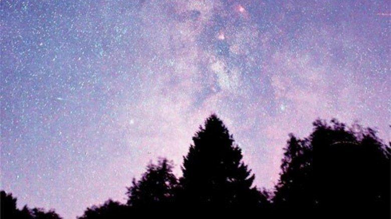 Die Milchstraße: Aufgenommen im Nationalpark Eifel. Foto: Bardenhagen