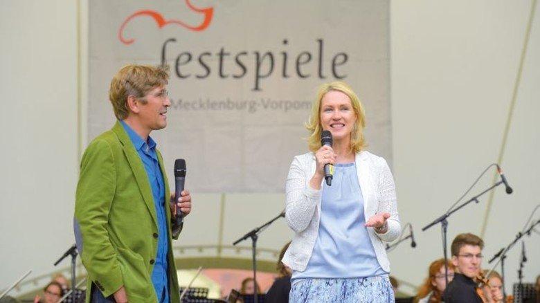 Begrüßung: Ministerin Manuela Schwesig. Foto: Augustin