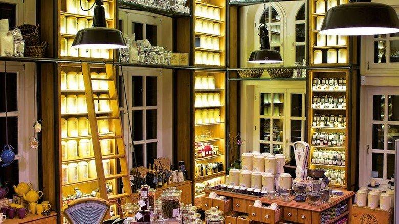 Großartiges Ambiente: Das Teekontor im Wasserschloss Foto: Wasserschloss Speicherstadt