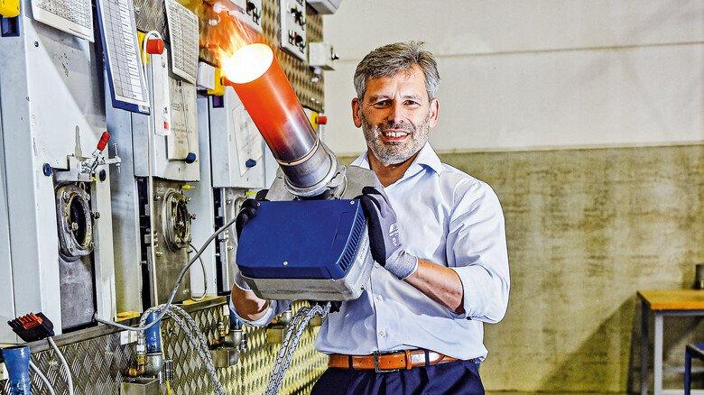 Kein Freund heißer Luft: Geschäftsführer Julian Bonato will mit Hightech gegen die Klimakrise angehen.
