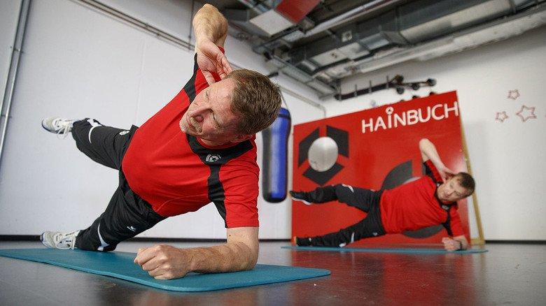 Beim Training: Jens Unglaub (vorne) und Michael Fichter leiten ehrenamtich den SV Spanntreff.