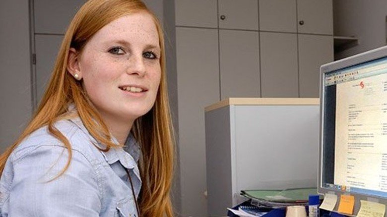 Erster Schritt: Bei Sanofi startet Désirée Hofmann ihr Berufsleben. Foto: Scheffler