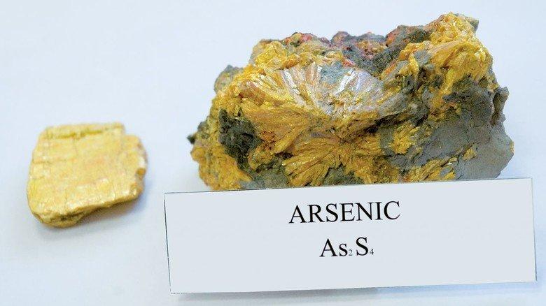 Gefährlich schön: In der Natur kommt Arsen überwiegend in Gesteinen vor.