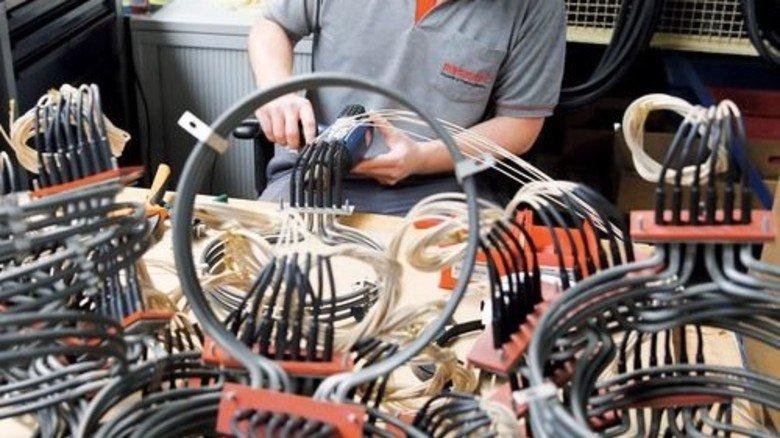 Jetzt geht's rund: Die Heizung ähnelt optisch der in Umluft-Backöfen. Foto: Karmann